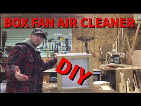 Box Fan Air Cleaner DIY Build