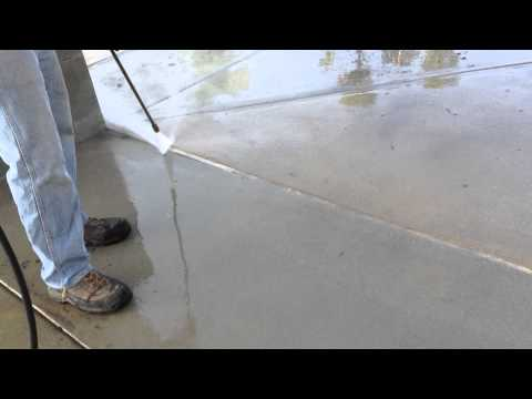 Using A Pressure Washer To Remove Gum From Concrete