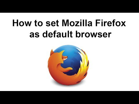 How to set firefox as default browser on windows 7