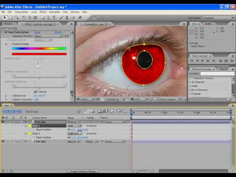 After Effects Tutorial:Eye Color Change