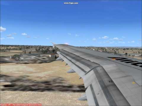 FSX: Alitalia A-321 ILS landing in Pisa