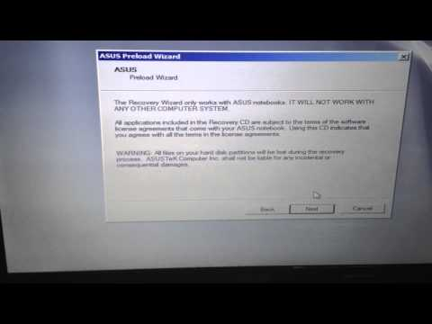 asus laptop F9 Asus laptop Recovery