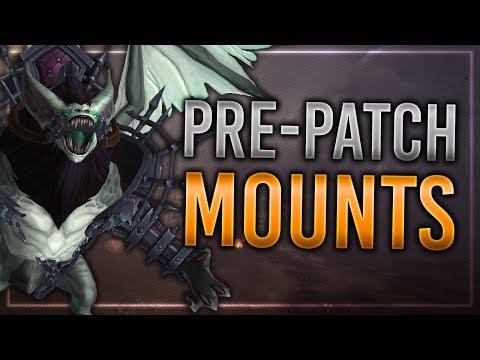 Battle for Azeroth Pre-Patch Mounts!   Undercity Plaguebat & Teldrassil Hippogryph!