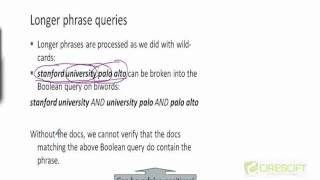 WDM 21: How to Handle Phrase Query