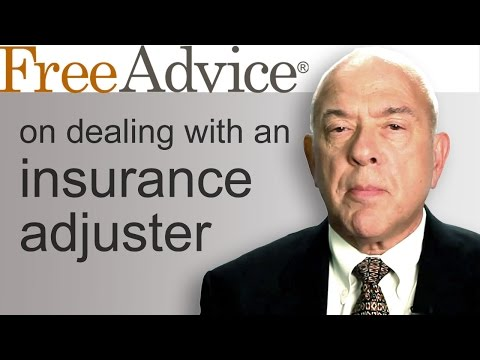 Dealing with an Insurance Adjuster