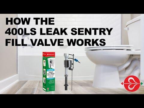 How Fluidmaster's Leak Sentry® fill valve detects leaks in your toilet