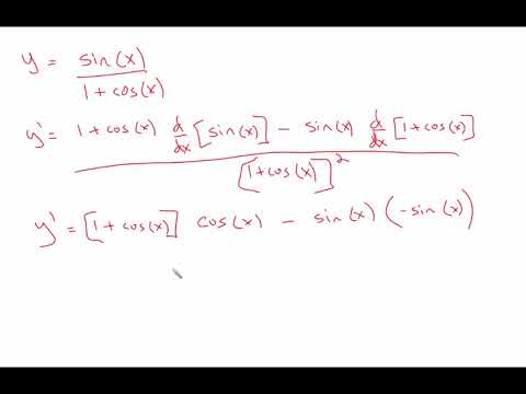 Derivatives and trig functions