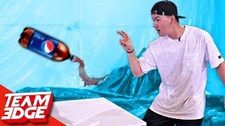 SODA Bottle Flip Challenge!!