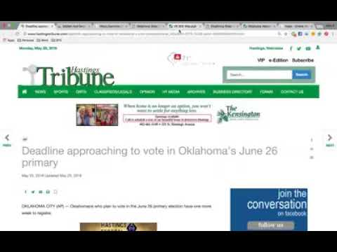 Oklahoma: Register to Vote: Request Absentee Ballots