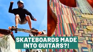 The Upcycle | Turning Old Skateboards Into Beautiful Guitars & Cool Products | People Are Awesome