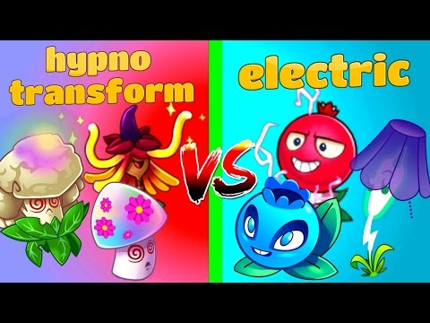 Plants vs  Zombies 2 Mod Electric vs Hypno and Transform
