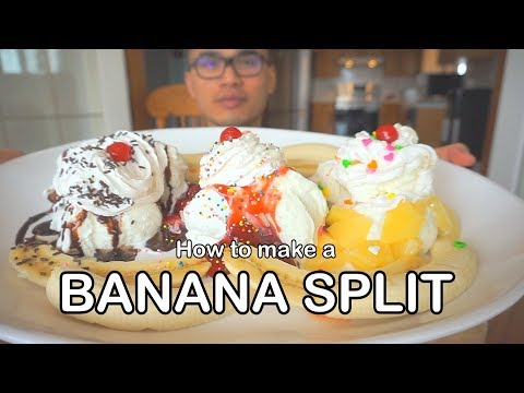 How to make a BANANA SPLIT