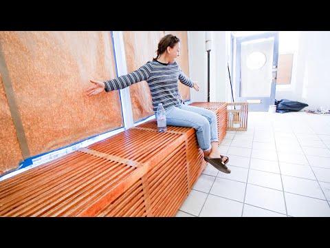 Installing The Window Seat/Radiator Cover! (Design, DIY, Wood)