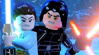LEGO Kylo Ren Vs Rey & Finn Lightsaber Battle Final Boss Fight Ending Star Wars The Force Awakens