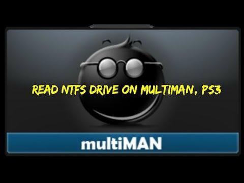 Read NTFS drive on Multiman , PS3