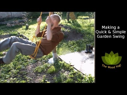 Making a Quick and Simple Garden Swing - Woodworking Project