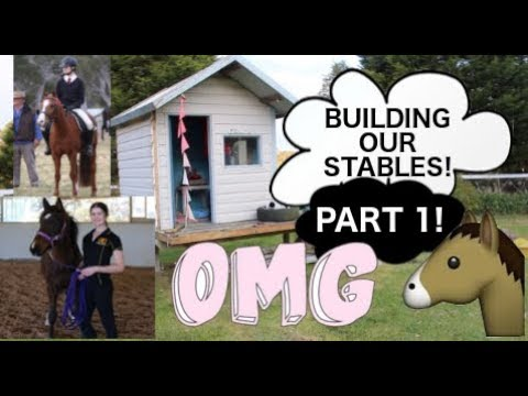 BUILDING OUR STABLES! PART 1! DEMOLISHING!