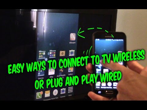 How to connect Android iPhone phones tablets to TV, wireless or wired