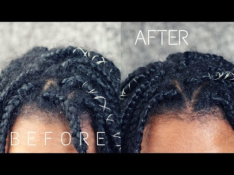 HOW TO Refresh Old & Frizzy Box Braids