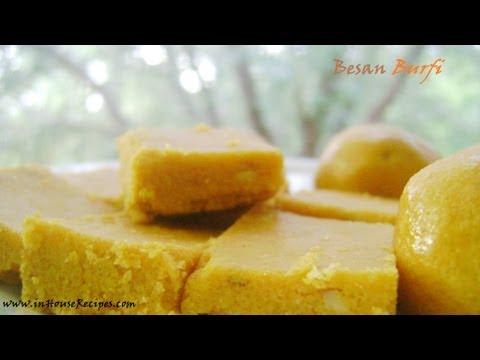 Besan Burfi Recipe - inHouseRecipes - Hindi With English Subtitles