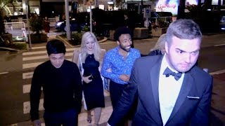 EXCLUSIVE : Donald Glover and girlfriend at Spike Lee film party in Cannes