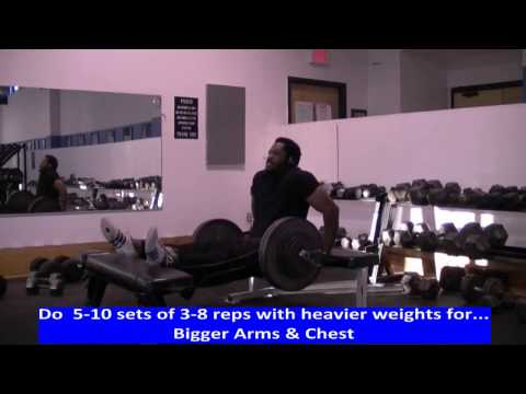 Weighted Bench Dips for Bigger Arms & Chest