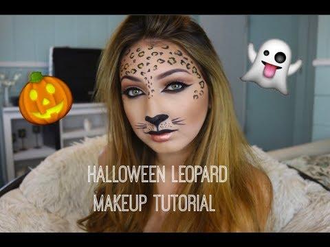 Easy Fast Halloween Makeup | Leopard Makeup | 2017
