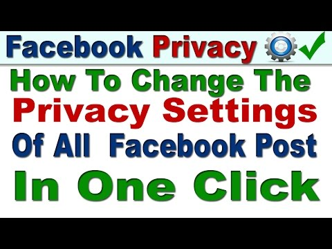 How To Change The Privacy Settings Of All  Facebook Post At Once In Hindi/Urdu | Facebook Security