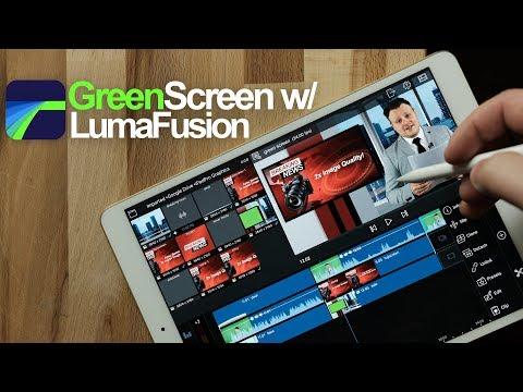 Green Screen with LumaFusion in 4k - iPad Pro 10.5