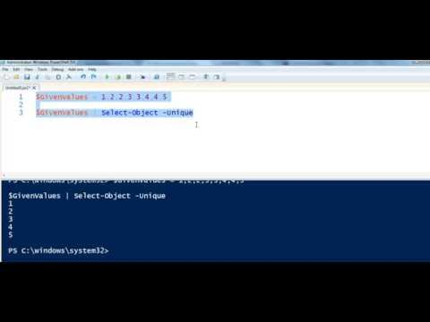 Removing Duplicate Values Using PowerShell