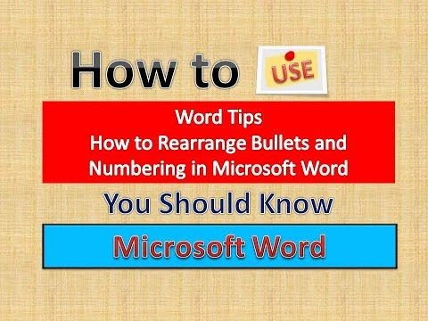Word Tips (How to Rearrange Bullets and Numbering in Microsoft Word) [English]