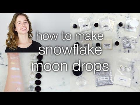 How to Make Snowflake Moon Drops