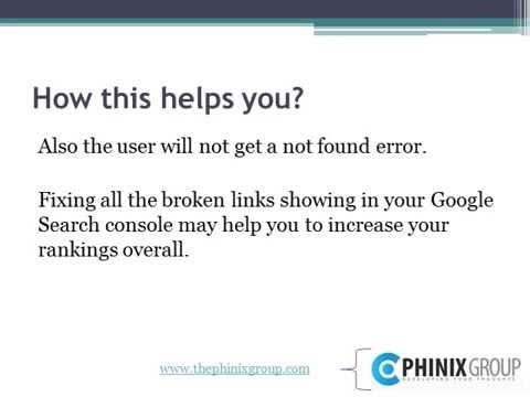 How to fix broken links is Search Console
