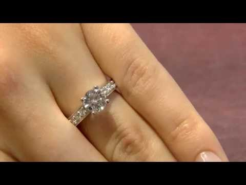 PR1044 1.50 Carat Side Stone Engagement ring