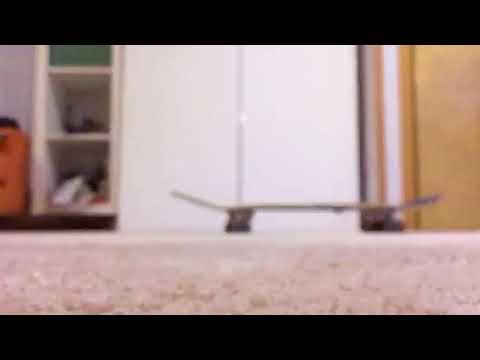 Ollie's on a skateboard in slow motion