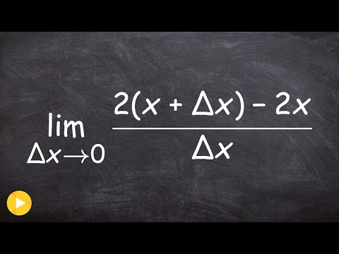 Evaluate the limit with delta x difference quotient