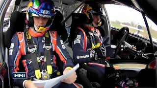ONBOARD Thierry Neuville as a Co Driver - Monza Rally Show 2017