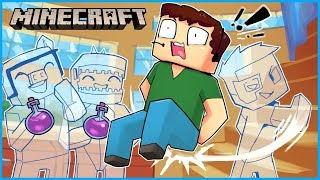 we used invisibility potions to troll nogla in Minecraft... ep 10 (HE GOT VERY MAD)