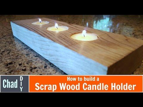 Scrap Wood Candle Holder