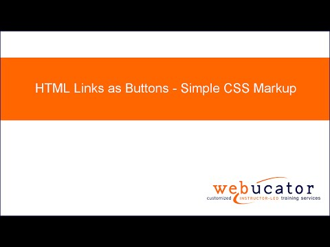 HTML Links as Buttons - Simple CSS Markup