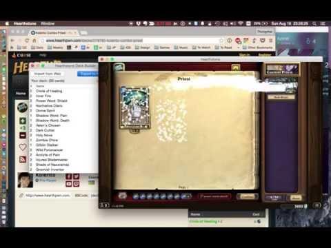 Hearthstone Deck Builder (OS X) - Demo