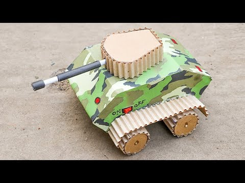 How to Make a Rc Tank From Cardboard | Wow! Amazing RC Tank DIY at Home | DIY Amazing Rc Battle Tank