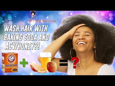Wash Hair w/Baking Soda Wash, ACV rinse