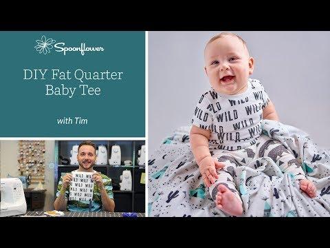 We're going 'WILD' over this DIY Baby Tee   Spoonflower Tutorials