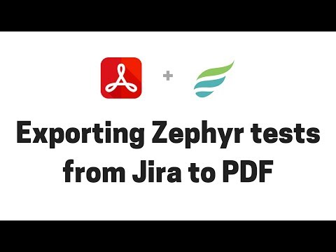 Exporting Zephyr tests from JIRA to PDF