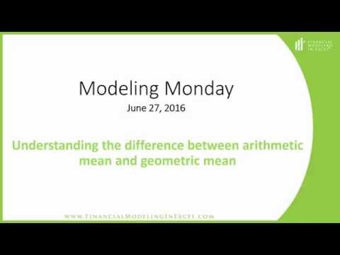 Tutorial - Calculating Arithmetic and Geometric Means - Financial Modeling in Excel
