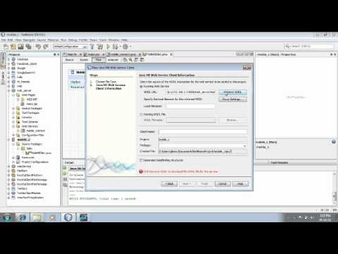 How to create a mobile application in netbeans to access a webservice through WIFI
