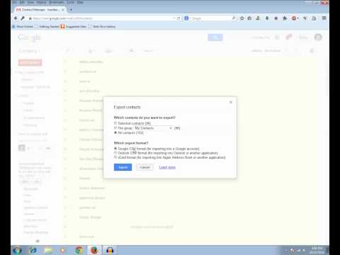 How to export contacts from a Gmail account to another