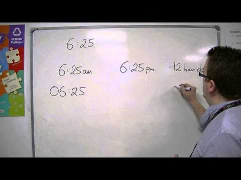 GCSE Maths from Scratch 6.02 Converting between 12-Hour and 24-Hour Clock