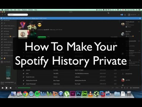 How Make Your Spotify History Private